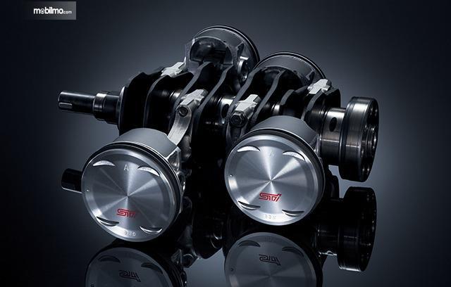 Gambar menunjukkan piston mesin Boxer