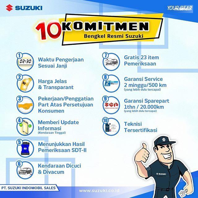 10 Komitmen bengkel resmi Suzuki kepada pelanggan