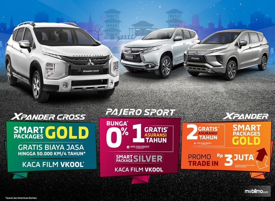 Gambar ini menunjukkan program penjualan mobil Mitsubishi 2019
