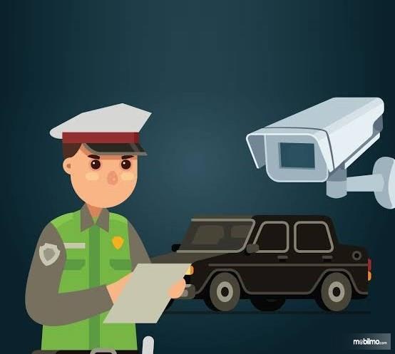 Gambaran tilang elektronik berbasis kamera CCTV