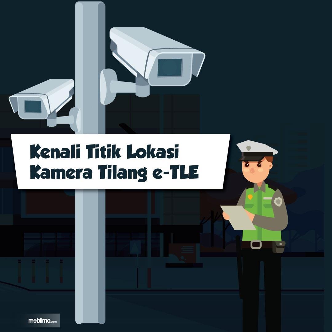 Gambar animasi mengenali lokasi kamera tilang elektronik
