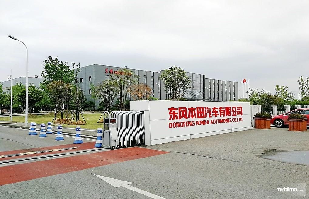 Foto menunjukkan Pabrik Honda di China