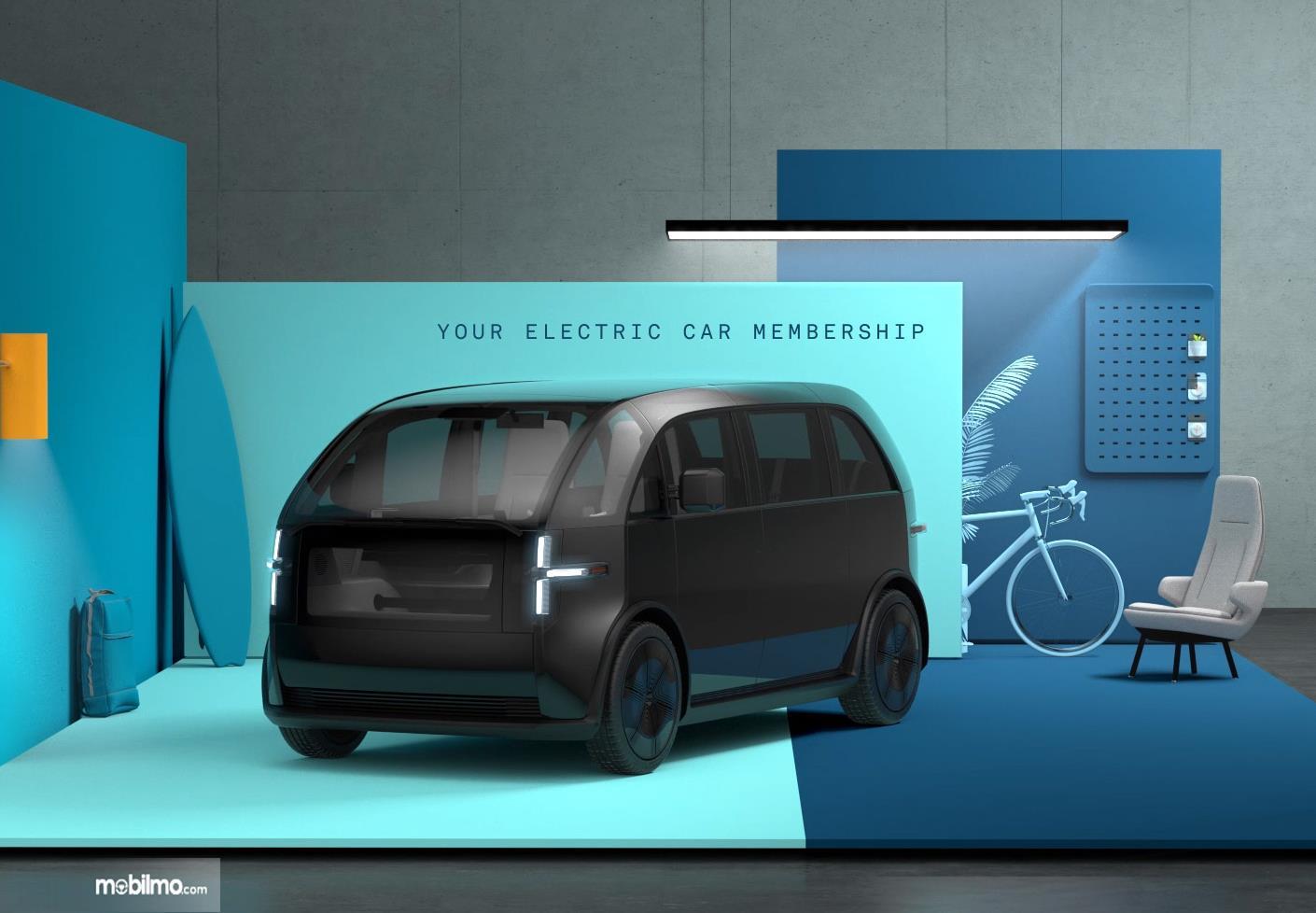 Foto menunjukkan mobil listrik buatan Canoo, Amerika Serikat