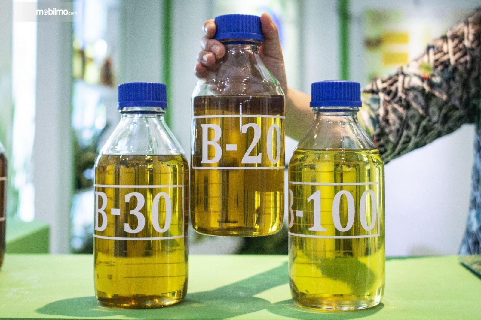 Contoh Biodiesel B20, B30, dan B100