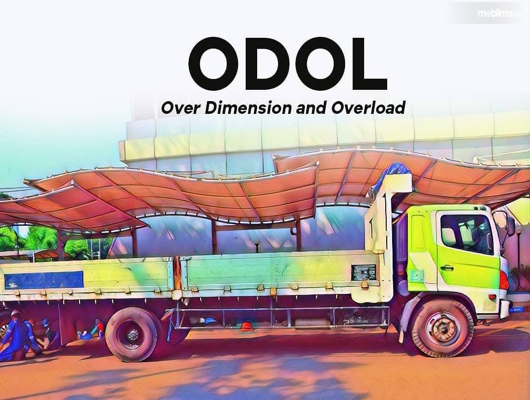 Gambar menunjukkan ilustrasi truk ODOL