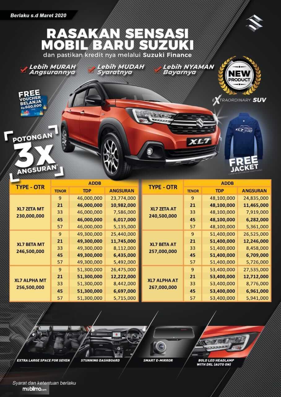 Gambar brosur Paket Promo Suzuki XL7