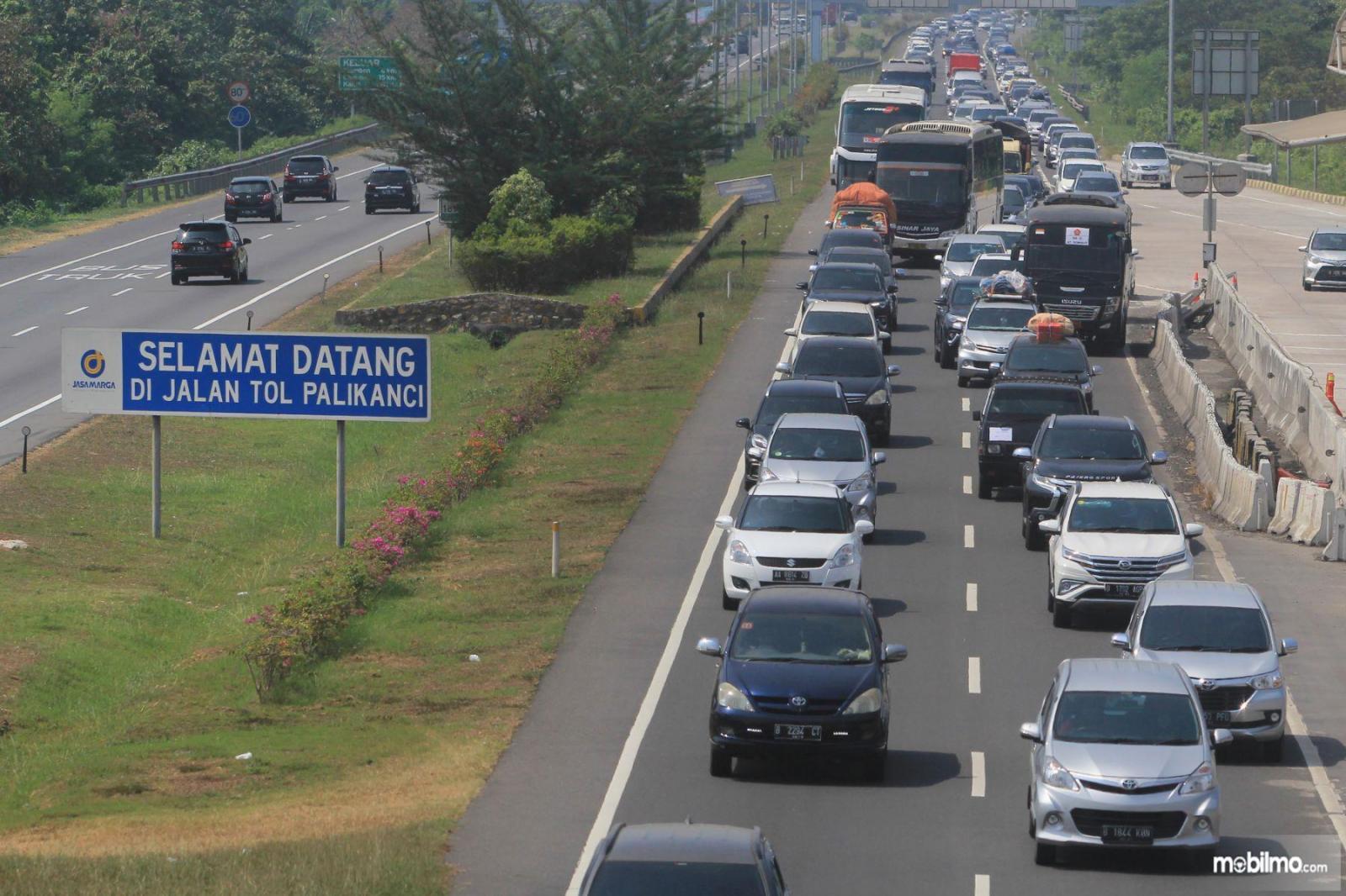 Foto Tol Trans Jawa tampak dari udara