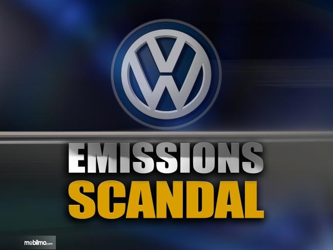Gambar ini menunjukkan ilustrasi Skandal Volkswaten Dieselgate