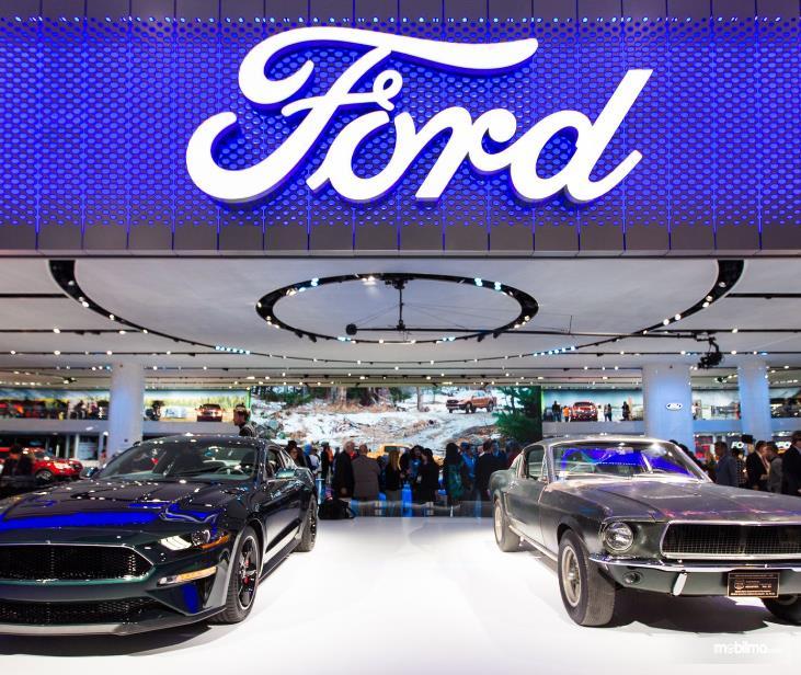 Gambar ini menunjukkan 2 mobil dengan tulisan Ford di atasnya