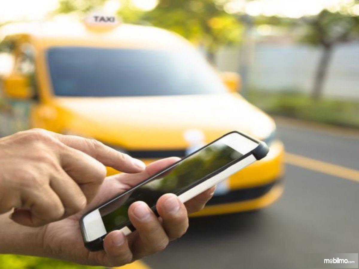 Foto ilustrasi taksi online