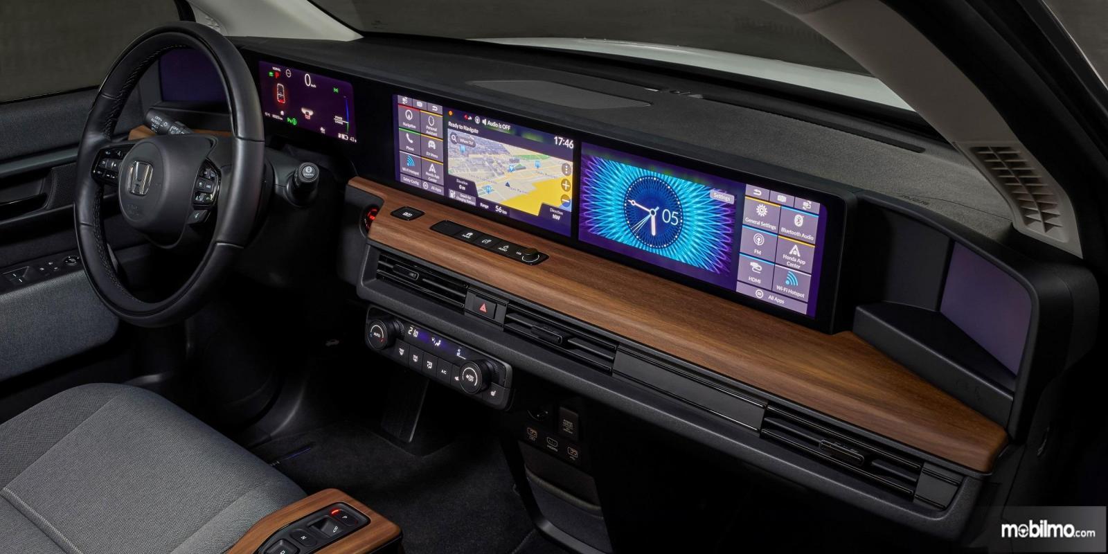 Foto menunjukkan Interior Honda e