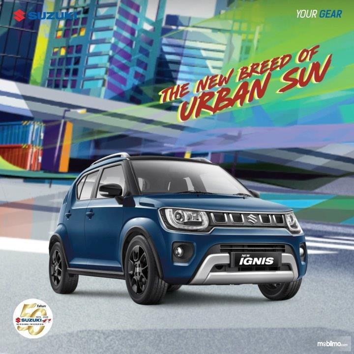 Foto Suzuki New Ignis 2020 tampak dari samping depan