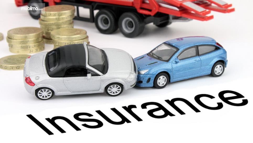 Gambar ini menunjukkan ilustrasi mobil dan koin