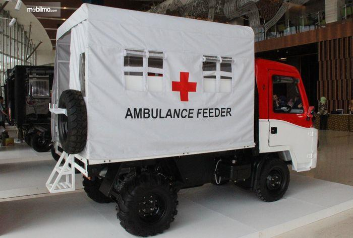 Foto AMMDes Ambulance Feeder tampak dari samping