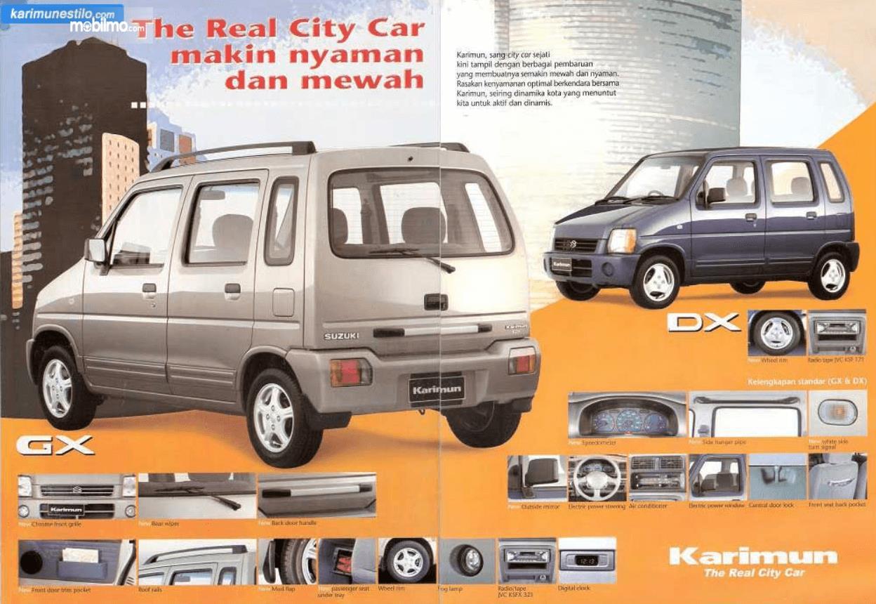 Gambar ini menunjukkan fitur pada mobil Suzuki Karimun GX 2005