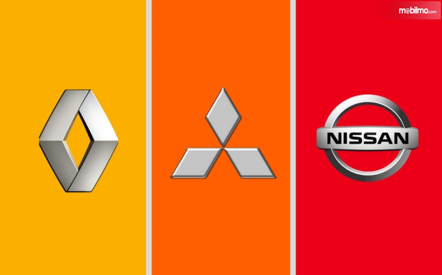 Foto menunjukkan Aliansi Nissan-Renault-Mitsubishi