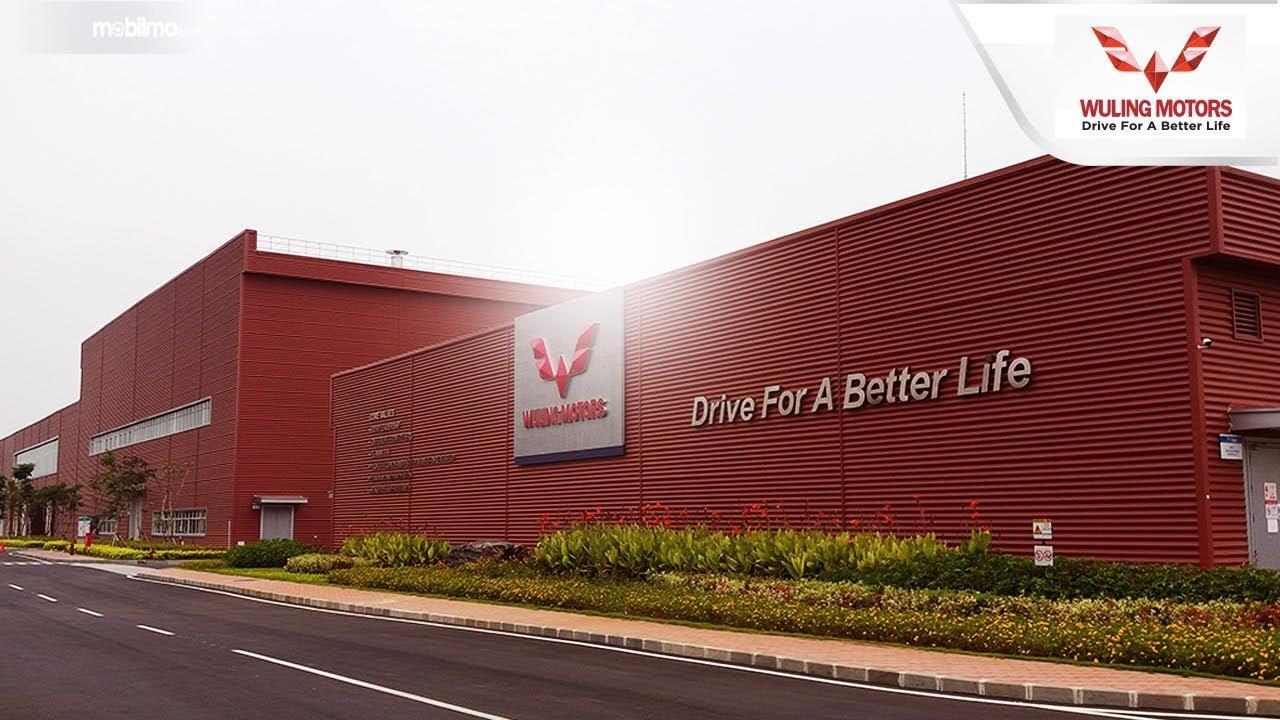 Foto menunjukkan Pabrik Wuling Cikarang