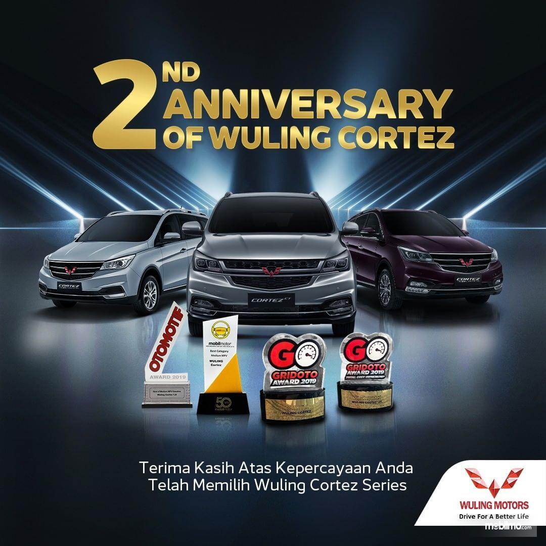 Foto menunjukkan Penghargaan Wuling Cortez