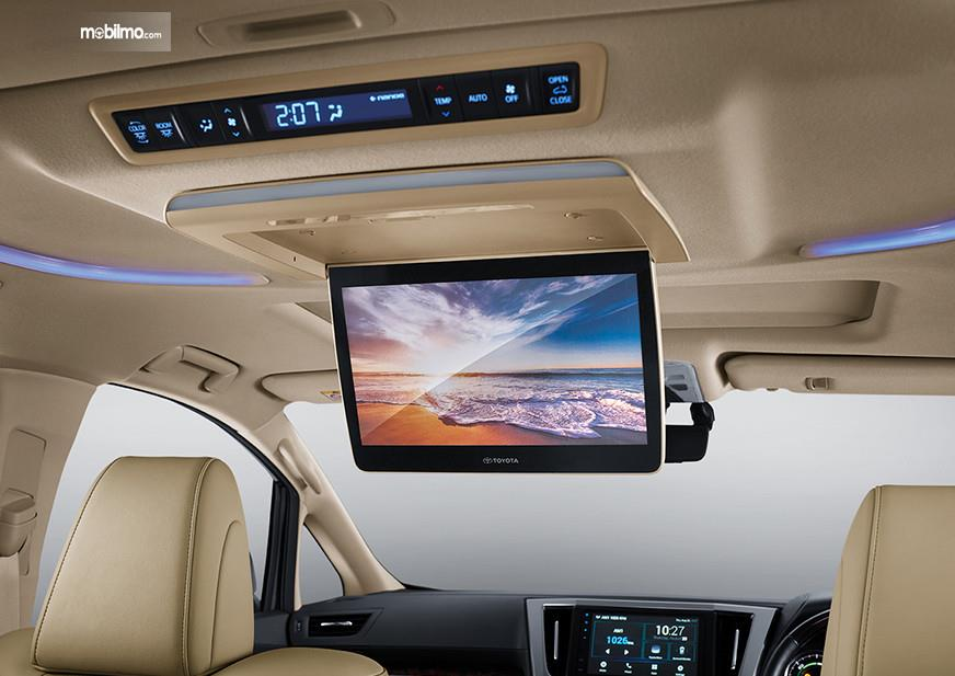 Foto menunjukkan Fitur Hiburan Toyota Alphard Hybrid
