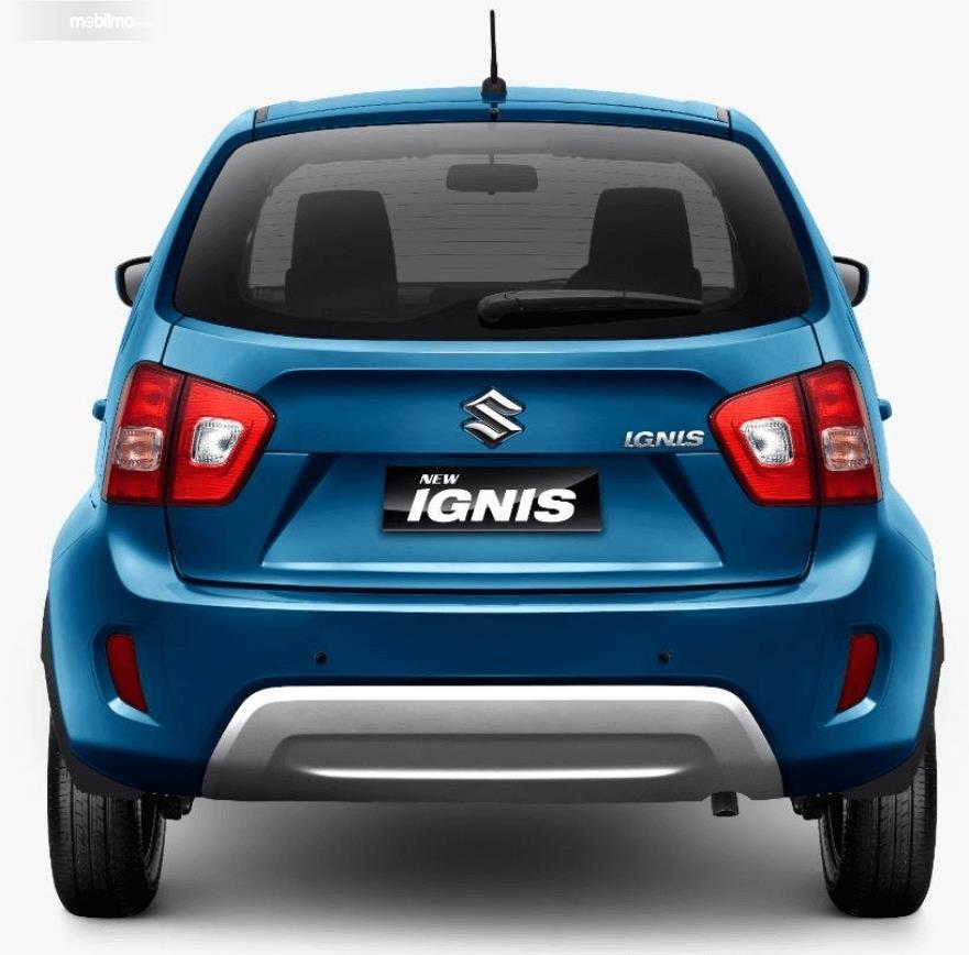 Gambar ini menunjukkan bagian belakang mobil Suzuki Ignis 2020