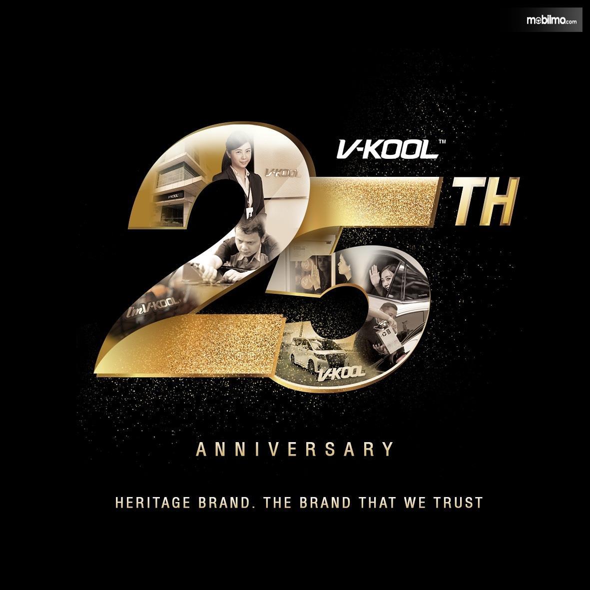 Gambar logo Ulang Tahun 25 V-KOOL di Indonesia