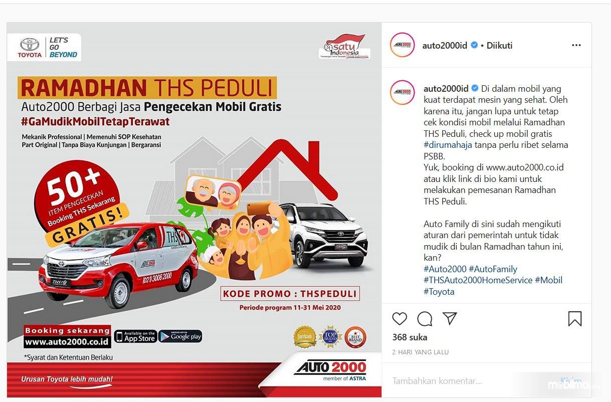 Gambar ini menunjukkan postingan di instagram mengenai Ramdhan THS Peduli