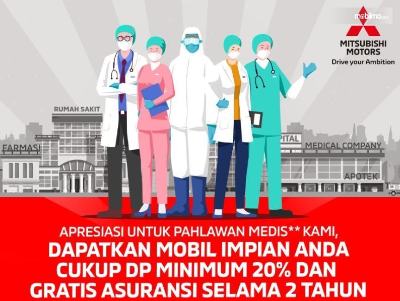 Gambar ini menunjukkan ilustrasi beberapa pahlawan medis dengan memakai masker