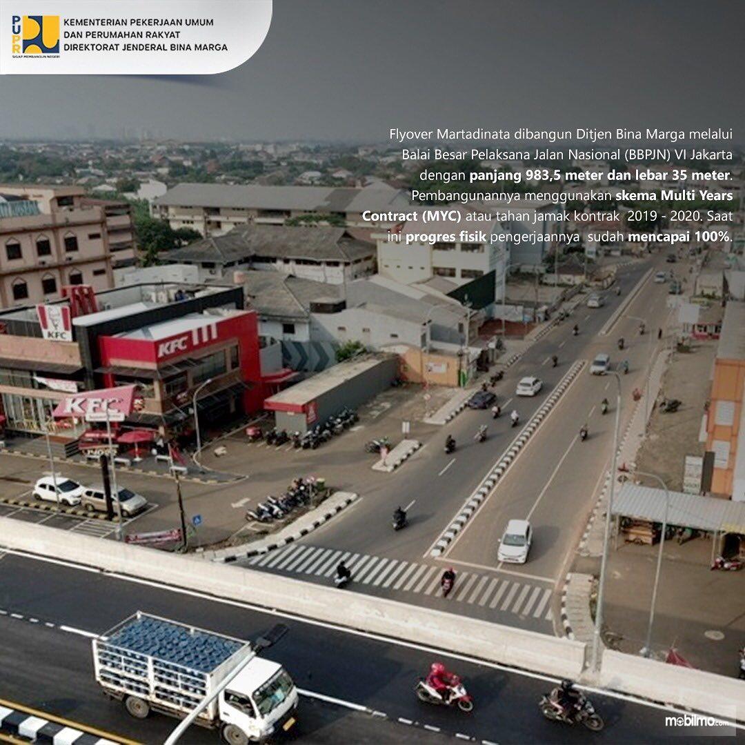 Foto menunjukkan Flyover Martadinata Simpang Gaplek Tangsel