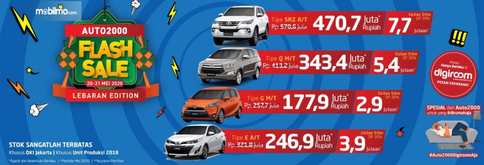 Gambar ini menunjukkan brosur program Toyota Auto2000