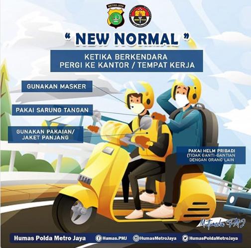 Gambar ii menunjukkan fase new normal untuk pengguna sepeda motor