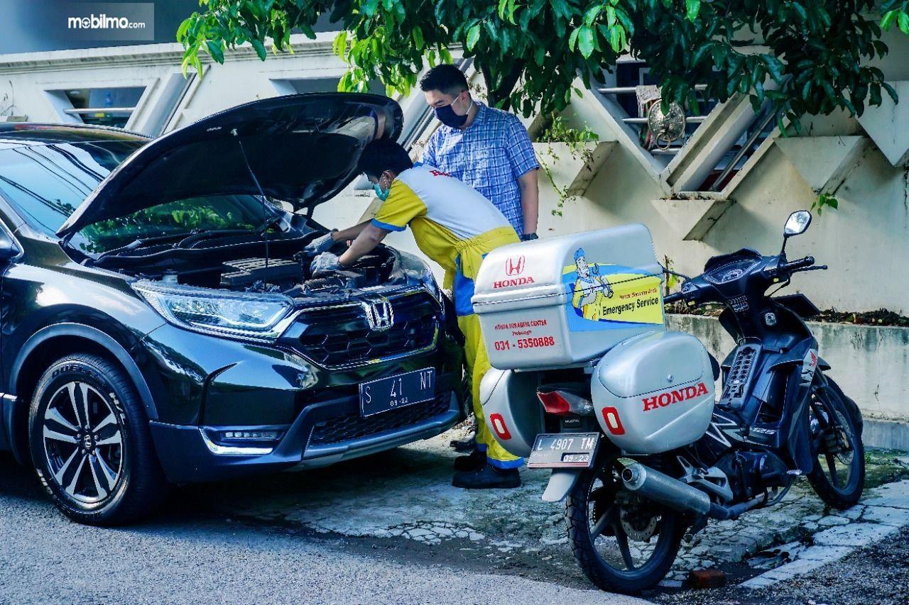 Foto menunjukkan layanan Honda Home Service