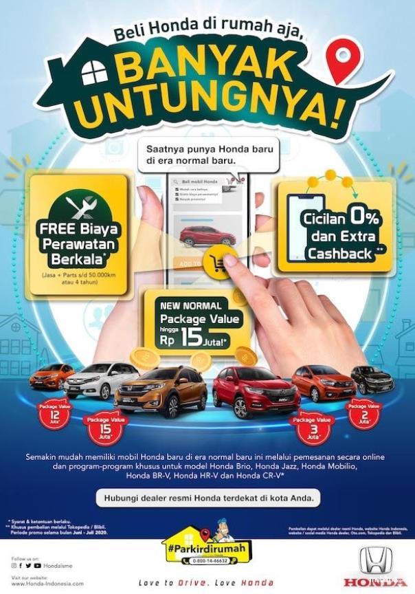 Gambar ini menunjukkan program penjualan dari mobil Honda