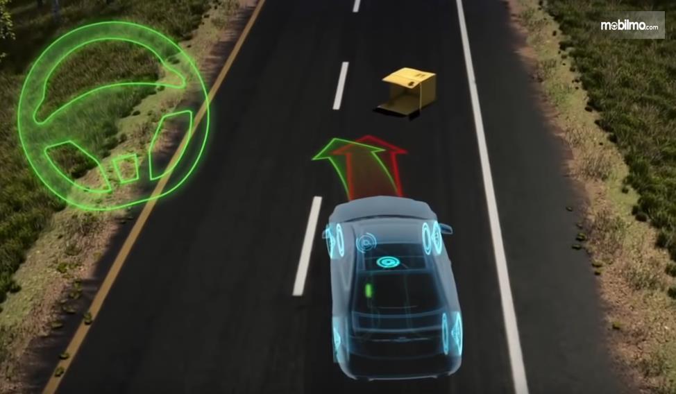 Gambar ini menunjukkan kinerja ESP saat terdapat benda di depan