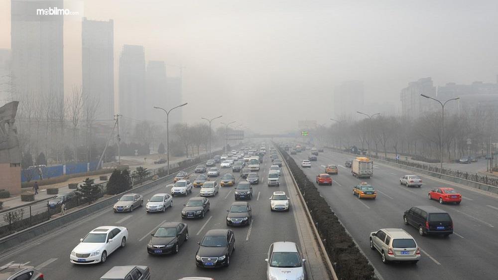 Foto Polusi udara Kota Jakarta