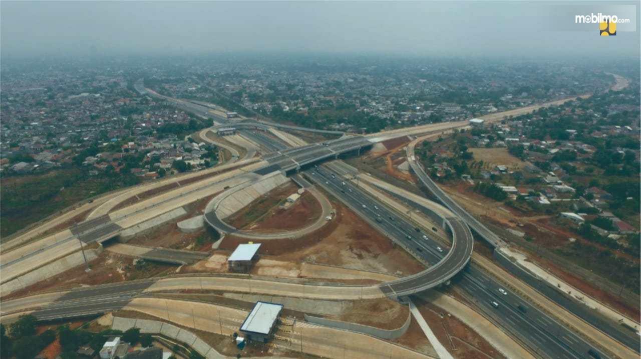 Foto salah satu proyek jalan tol di Indonesia