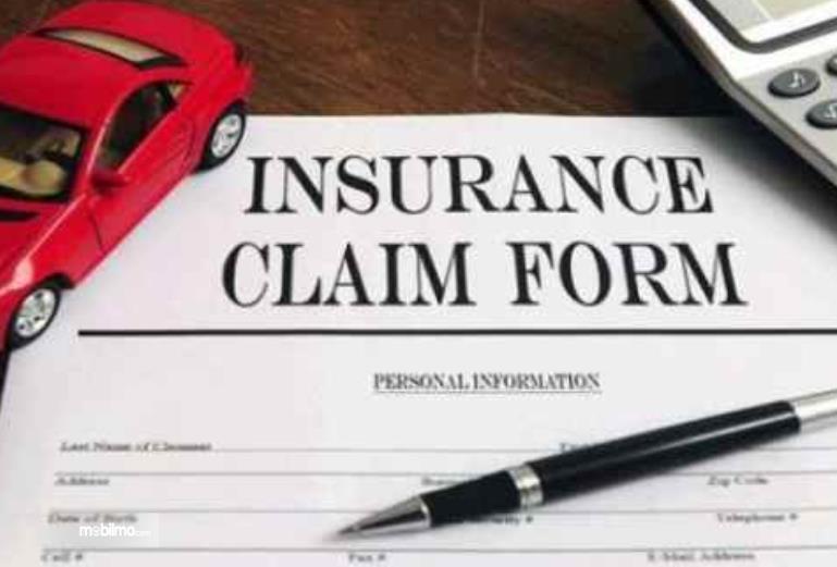 Gambar ini menunjukkan dokumen untuk klaim asuransi