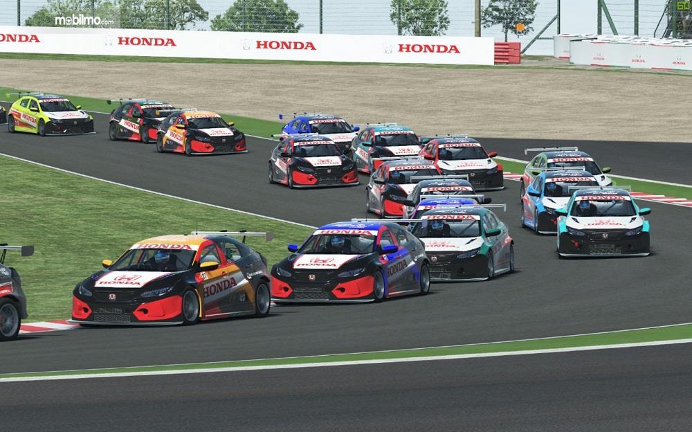 Foto keseruan Honda Racing Simulator Championship 2020