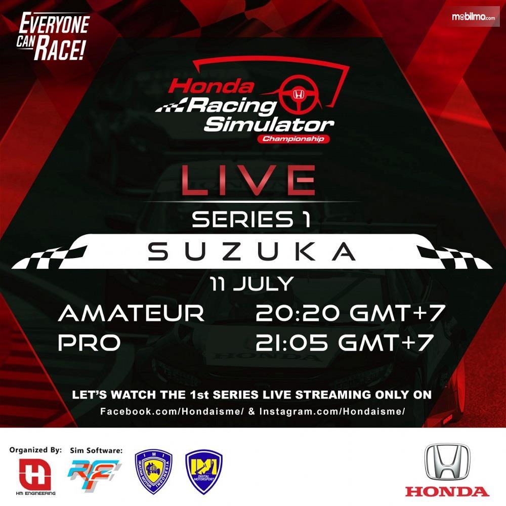 Gambar jadwal balapan simulator Honda 2020