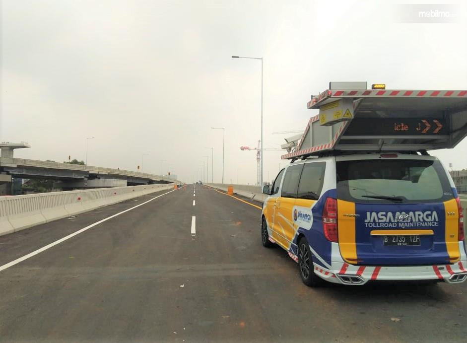 Foto menunjukkan mobil pintar Haykeye 2000 milih Jasa Marga