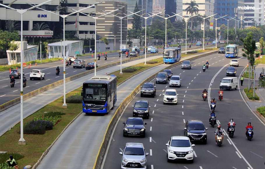 Foto salah satu kondisi lalu lintas Jakarta