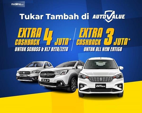 Gambar menunjukkan banner Suzuki Auto Value Ekstra Cashback Rp 4 Juta