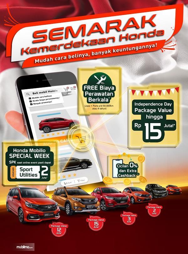 Banner Promo Semarak Merdeka Honda bulan Agustus 2020