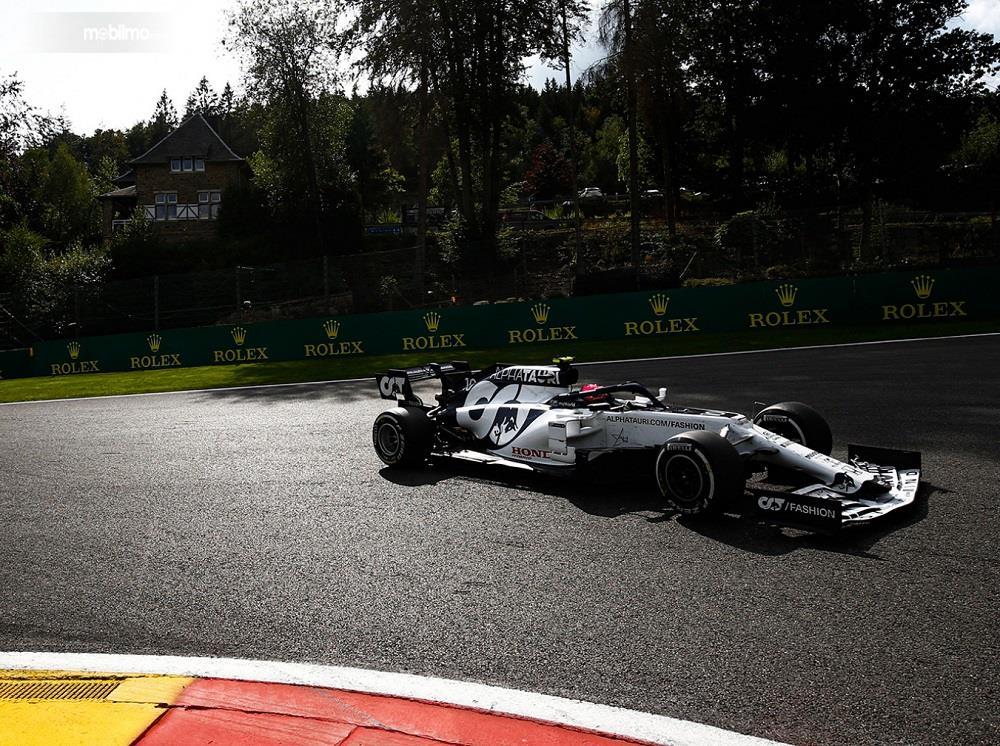 Foto menunjukkan salah satu suasana balapan F1 2020 GP Belgia