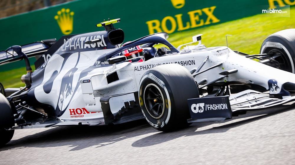 Foto menunjukkan Pierre Gasly di balapan F1 2020 GP Belgia