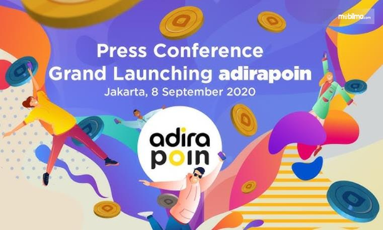 GAmbar ini menunjukkan selebaran press konferensi peluncuran Adira Poin