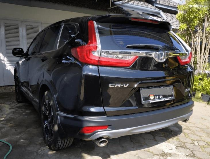 Gambar ini menunjukkan bagian belakang All New Honda CR-V 1.5L Turbo 2019