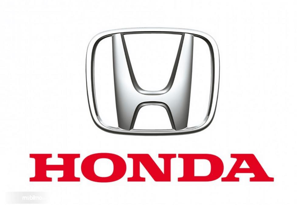 Gambar ini menunjukkan logo Honda dan tulisan Honda
