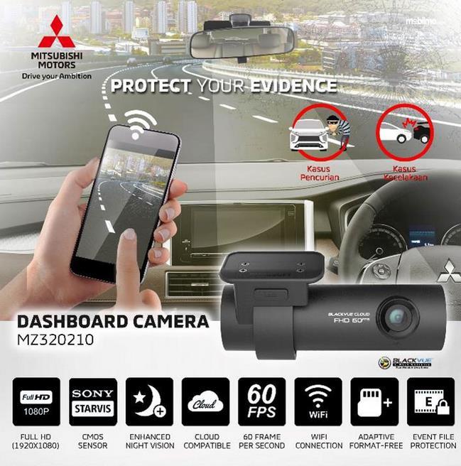 Gambar ini menunjukkan brosur mengenai fitur Dashboard Camera seri SPA98001 Blackvue Cloud