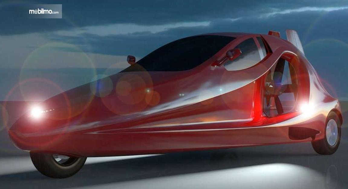 gambar ini menunjukkan mobil sport terbang Switchblade