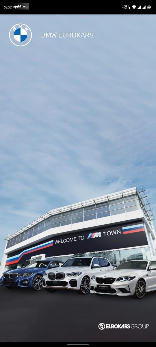 Gambar ini menunjukkan pembukaan saat masuk aplikasi BMW Eurokars